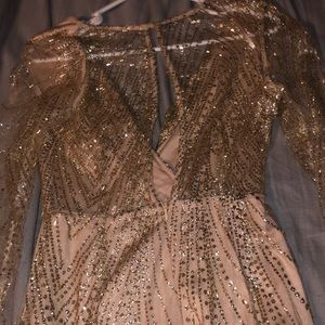 Dresses - Sparkly long sleeve short dress